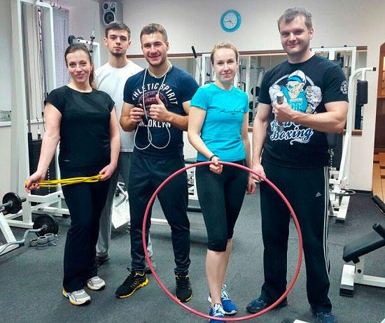 Мужская и женская тренировка